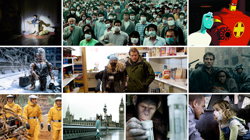 10 pandemic movies that are worth streaming right now. (Photo: A24/CJ Entertainment/Warner Bros. Pictures/Universal Pictures/Fox Searchlight Pictures/20th Century Fox/Paramount Vantage/Yahoo Lifestyle)