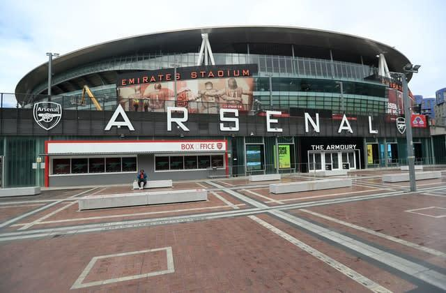Arsenal have announced plans to make 55 redundancies as the club face up to the financial impacts of the coronavirus pandemic (Mike Egerton/PA)