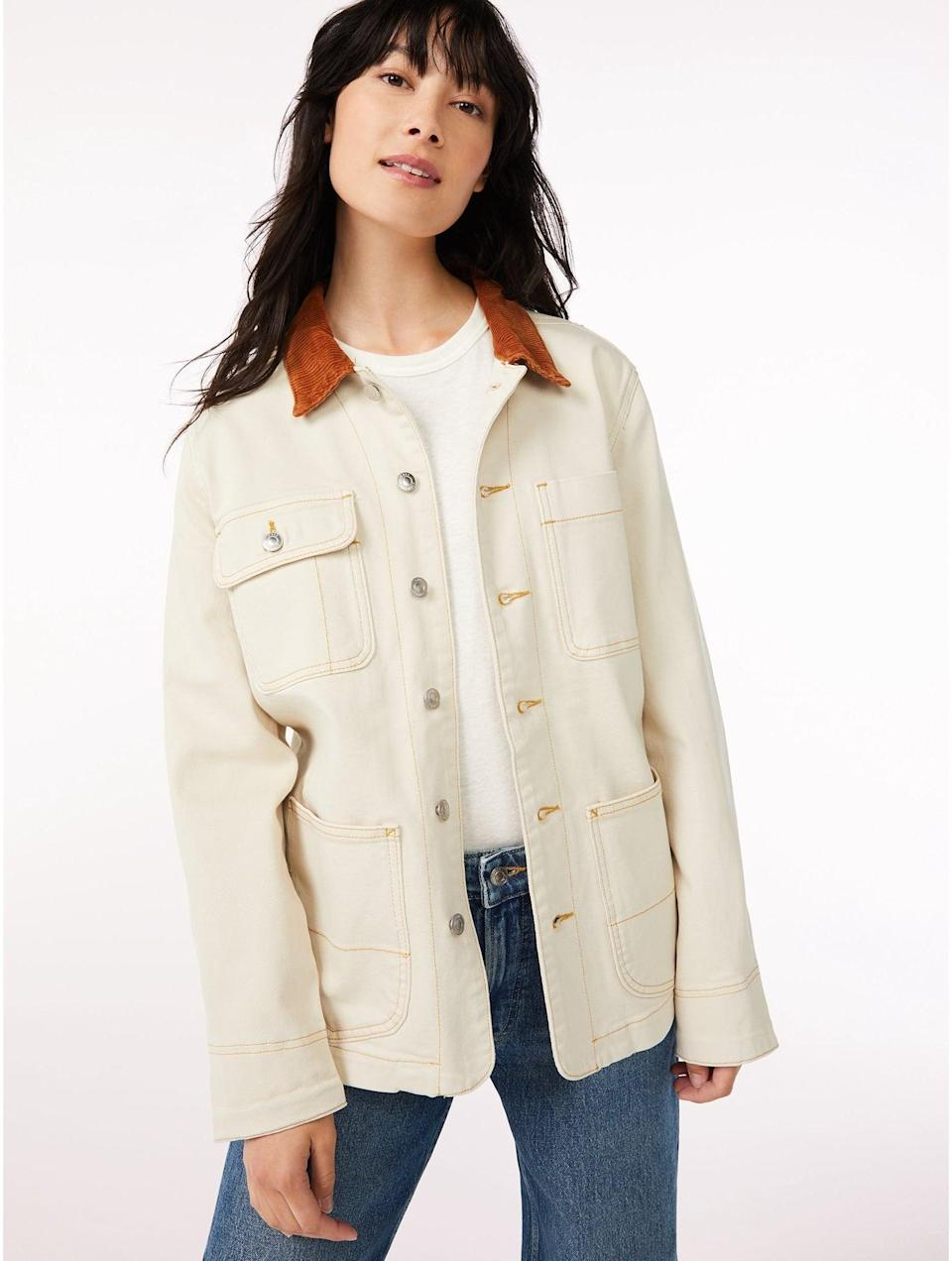<p>No, I won't be offended if you temporarily ditch this article to add this <span>Free Assembly Women's Barn Jacket with Corduroy Collar</span> ($36) to your virtual shopping cart. Act fast though - we have a feeling this perfect-for-fall essential won't be around for long.</p>