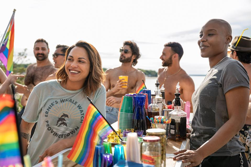 Monica Raymund stars in the Starz drama <em>Hightown</em>. (Photo: Jojo Whilden/Starz)