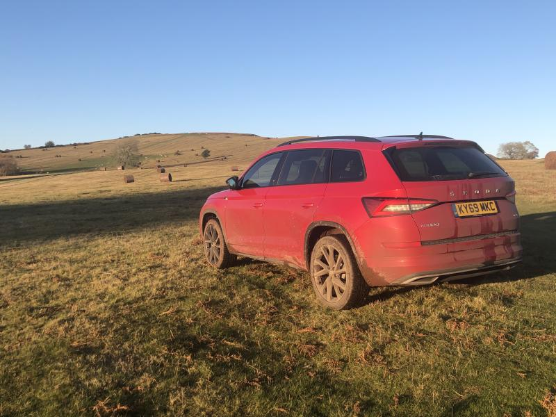 The Kodiaq's four-wheel-drive system makes it handy on difficult terrains