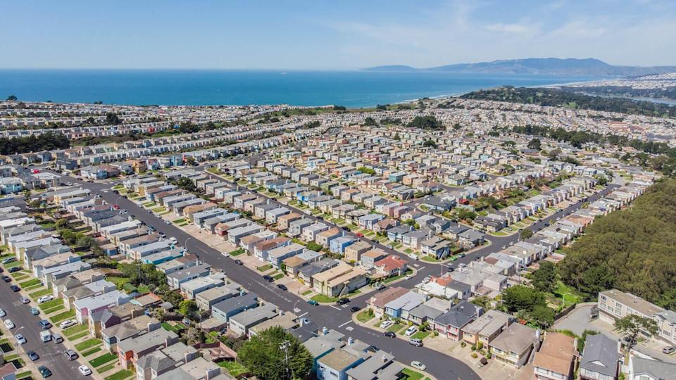 San Francisco Outer Sunset District from Above.