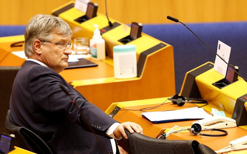 Jorg Meuthen, the Federal Spokesman for the AfD, moved against Mr Kalbitz after he was linked to the Patriotic German Youth, a neo-nazi organisation - JOHANNA GERON/REUTERS