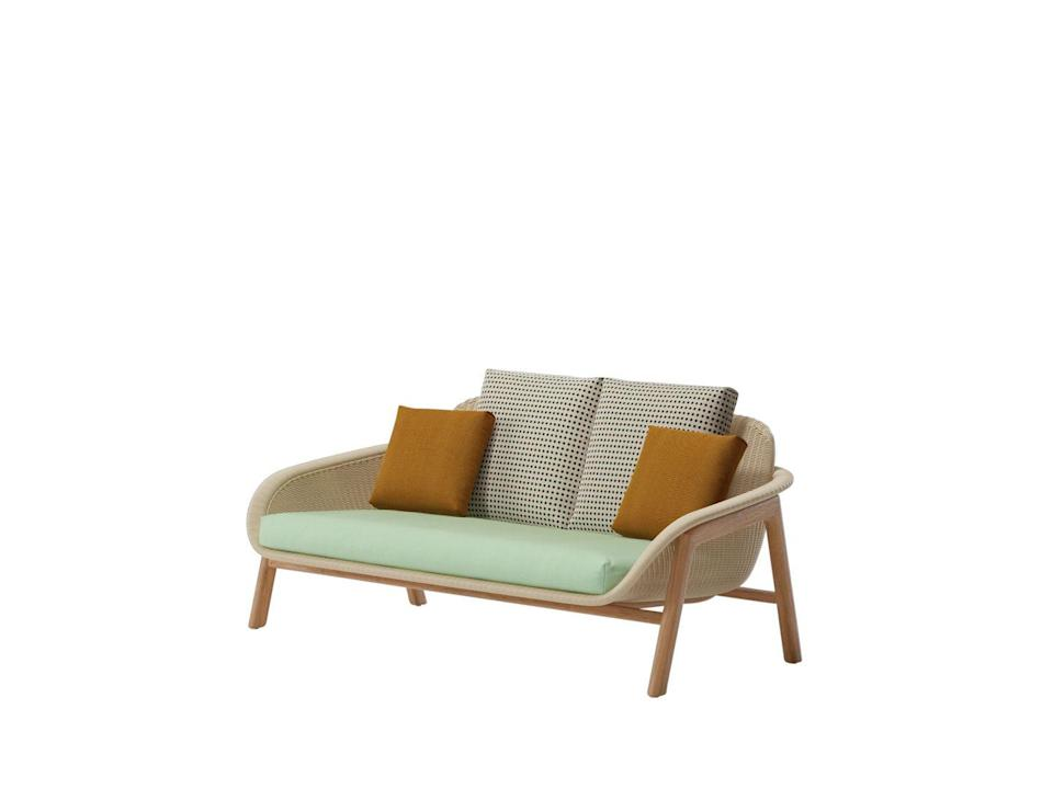 """<p>Created by Patricia Urquiola, this charming outdoor sofa's name is taken from the Italian word for wicker, which happens to rhyme with Bimini, one of Urquiola's favourite holiday islands. The piece is, she says, 'an object of memory'. £3,989, <a href=""""https://www.kettal.com/en/particular/collection/vimini/"""" rel=""""nofollow noopener"""" target=""""_blank"""" data-ylk=""""slk:Kettal"""" class=""""link rapid-noclick-resp"""">Kettal</a></p>"""