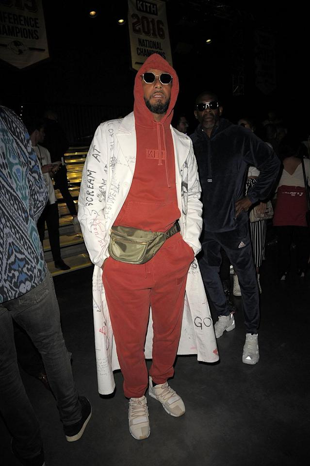 <p>Swizz Beatz attends the Kith Sport fashion show during New York Fashion Week at the Classic Car Club on September 7, 2017. (Photo by Chance Yeh/Getty Images) </p>