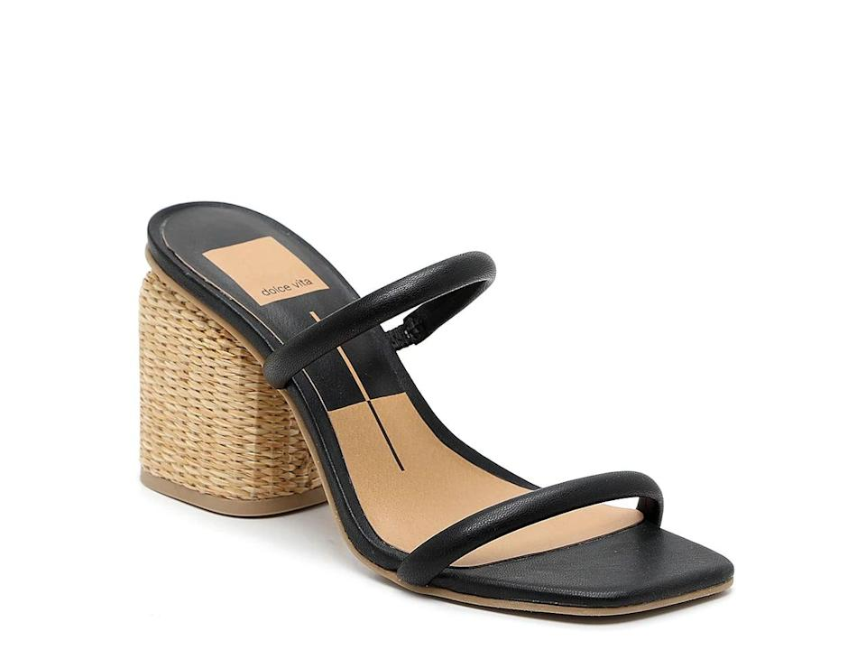 <p>The heel on these <span>Dolce Vita Natie Sandals</span> ($70) is so cute.</p>