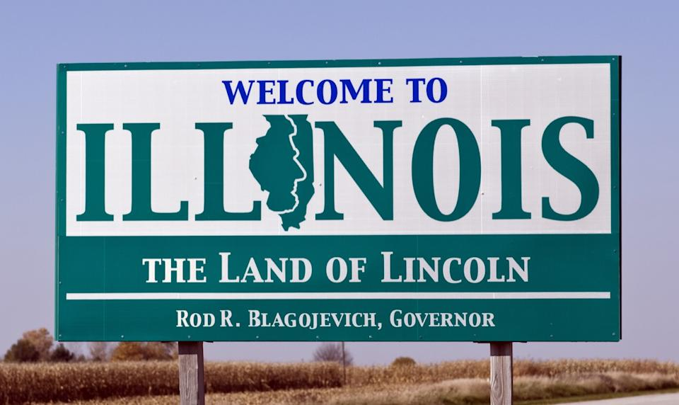 illinois state welcome sign