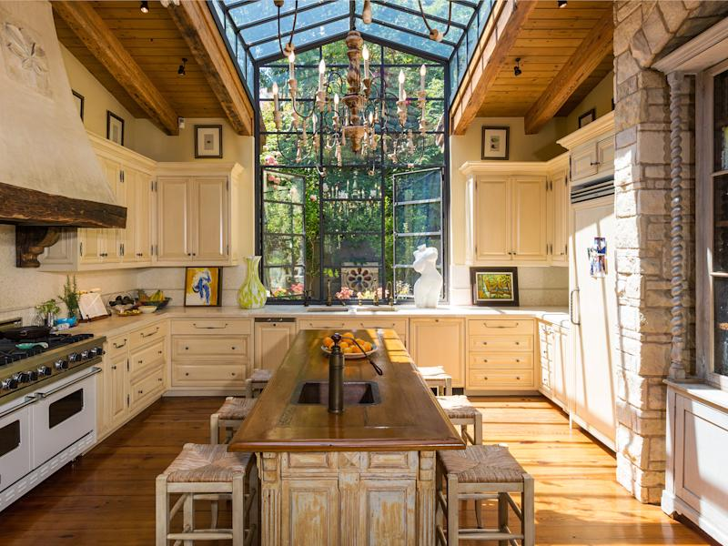 J.Lo's kitchen in her Bel Air home.