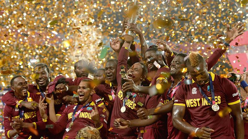 Seen here, Windies players celebrate their T20 World Cup final win in 2016.