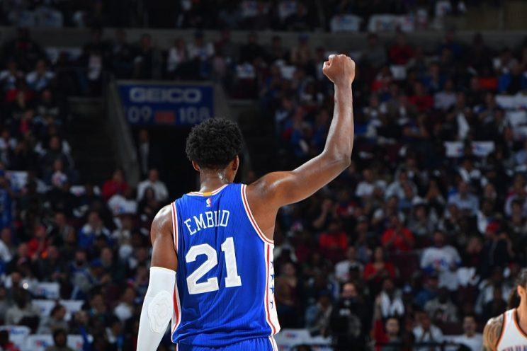 Philadelphia 76ers center Joel Embiid is a legend in the making. (Getty Images)