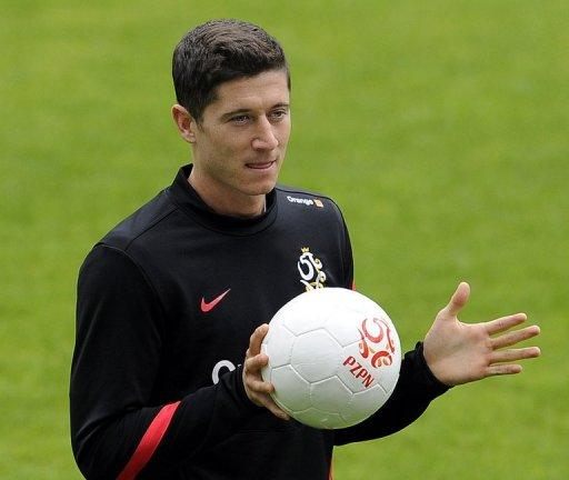 Poland striker Robert Lewandowski