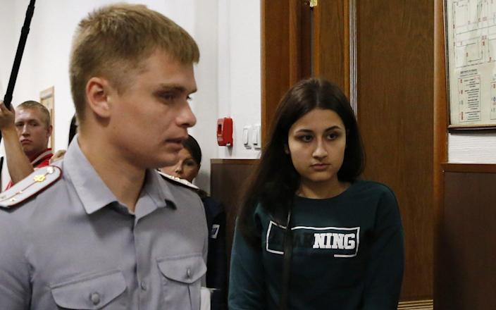 Maria Khachaturyan, the younger sister, will stand a separate trial - Sergei Karpukhin/Tass via Getty Images