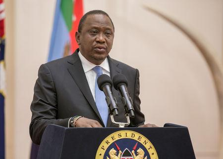 FILE PHOTO: Kenya's President Uhuru Kenyatta addresses the Nation from State House in Nairobi, Kenya September 14, 2018. Presidential Press Service/Handout via REUTERS