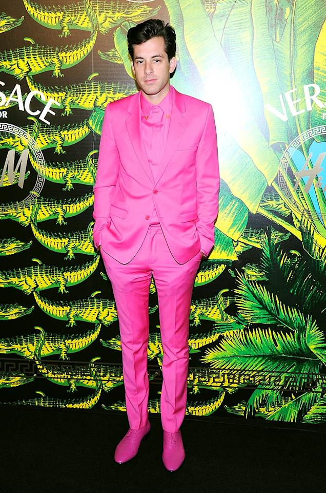 ... while music producer and DJ Mark Ronson proved he has a real penchant for pink. (11/8/2011)