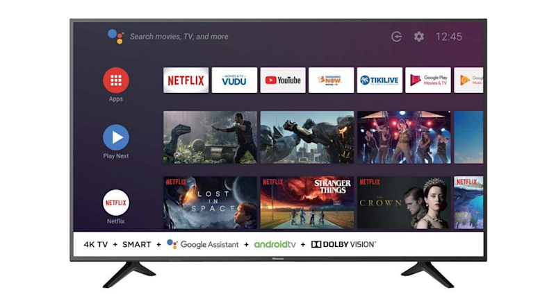 Hisense's 58-inch Android Smart TV offers 4K (2160P) resolution.