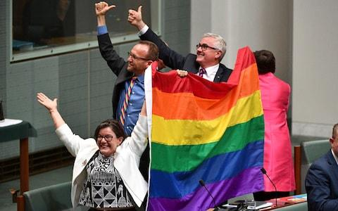 Same-sex marriage Australia couple divorce Jensen - Credit: AAP