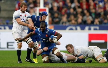 Rugby Union - Six Nations Championship - France vs England - Stade de France, Saint-Denis, France - March 10, 2018 France's Yacouba Camara in action REUTERS/Regis Duvignau