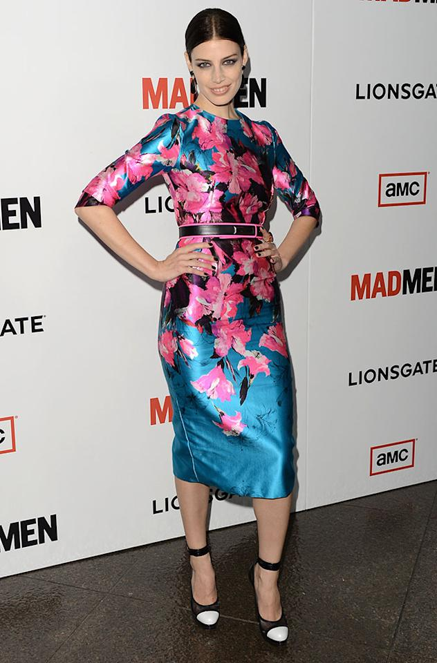 "Jessica Pare arrives at the Premiere of AMC's ""Mad Men"" Season 6 at DGA Theater on March 20, 2013 in Los Angeles, California."
