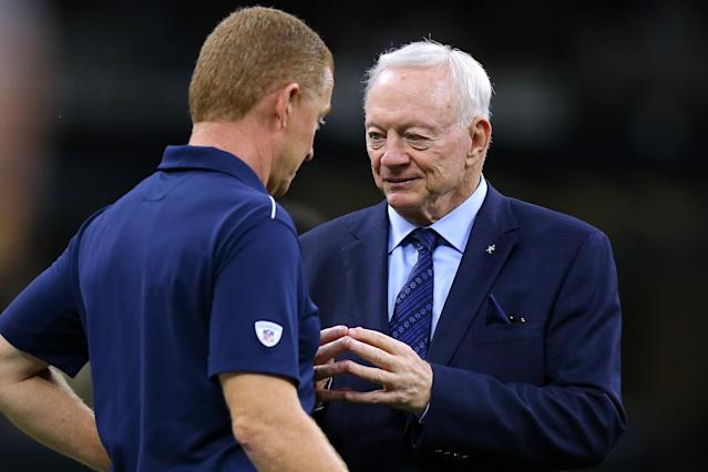 Jerry Jones is among the NFL's most visible owners. Is that status, combined with his job as general manager, hurting the Cowboys? (Photo by Jonathan Bachman/Getty Images)
