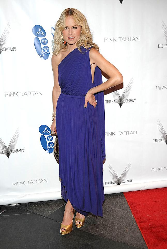 "Stylist-to-the-stars Rachel Zoe stood out in a bright-blue one-shouldered frock and metallic heels. Jamie McCarthy/<a href=""http://www.wireimage.com"" target=""new"">WireImage.com</a> - April 15, 2009"