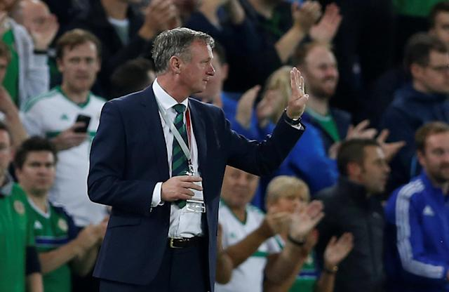 Soccer Football - 2018 World Cup Qualifications - Europe - Northern Ireland vs Czech Republic - Belfast, Britain - September 4, 2017 Northern Ireland manager Michael O'Neill Action Images via Reuters/Matthew Childs