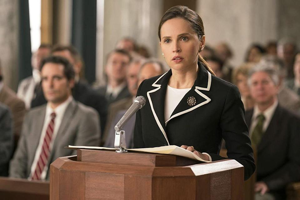 """<p>Want more stories about strong women fighting for equality in a man's world? This recent film spotlights the Notorious Ruth Bader Ginsburg and her fight for women's rights. </p><p><a class=""""link rapid-noclick-resp"""" href=""""https://www.amazon.com/gp/video/detail/amzn1.dv.gti.38b3e687-caef-bbf3-9450-9bc9624257f2?tag=syn-yahoo-20&ascsubtag=%5Bartid%7C10058.g.33594048%5Bsrc%7Cyahoo-us"""" rel=""""nofollow noopener"""" target=""""_blank"""" data-ylk=""""slk:WATCH IT"""">WATCH IT</a></p>"""