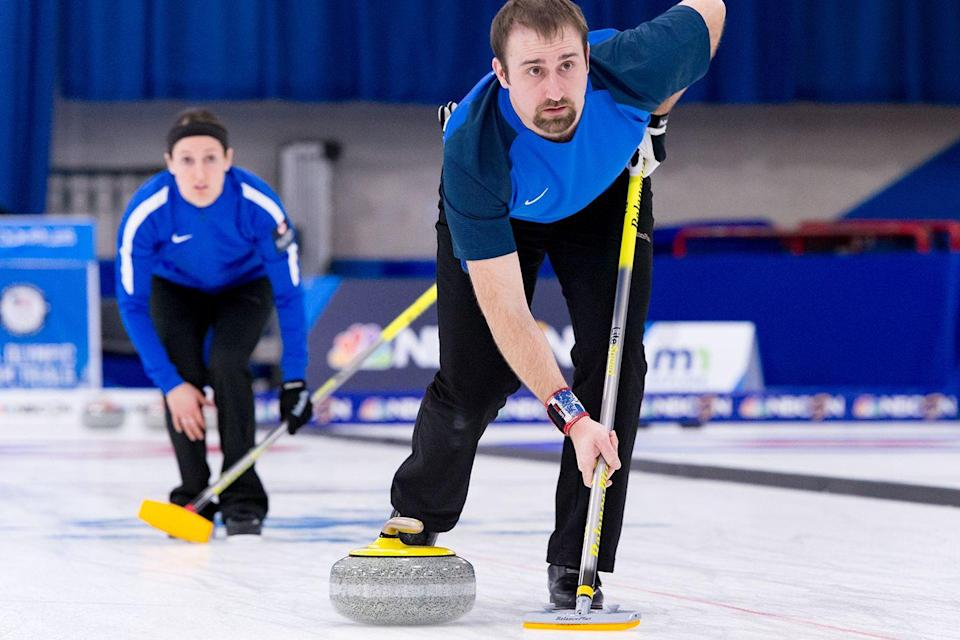 <p>Polo notes that curling is more of an endurance sport than anything, with three games to play per day during some competitions. To stay on point during on-ice drills, he drinks plenty of water and makes sure to have a post-workout protein shake.</p>