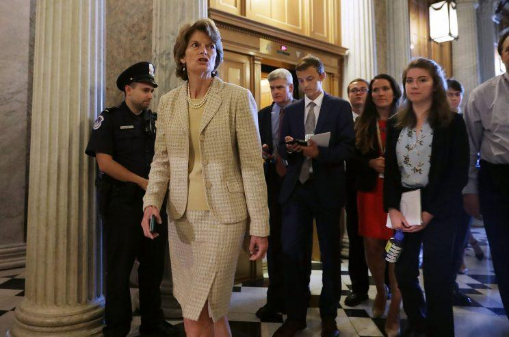 Sen. Lisa Murkowski (R-Alaska) heads for the Senate floor for a vote at the U.S. Capitol on July 26, 2017, in Washington, D.C. (Photo: Chip Somodevilla/Getty Images)