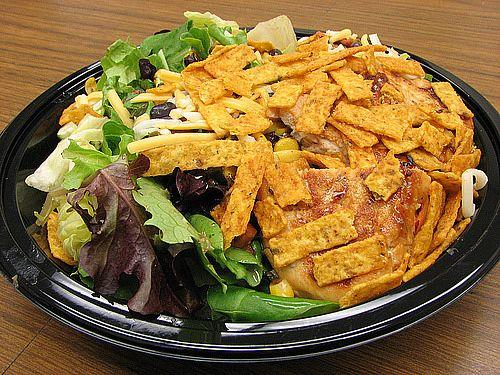 3. How many calories in the McDonald's Premium Southwest Salad?-<br />If you're opting out of fries when you're inside a fast food restaurant, you definitely get extra credit. So if you order up a Premium Southwest Salad with Grilled Chicken and Newman's Own Creamy Southwest Dressing, are you having an A+ lunch?
