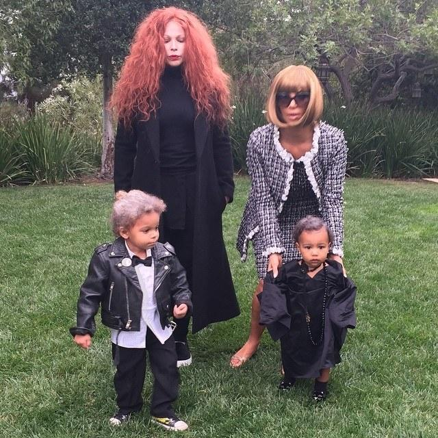 Kim Kardashian dressed as Anna Wintour for Halloween on October 31, 2014. Photo courtesy of Instagram @kimkardashian.
