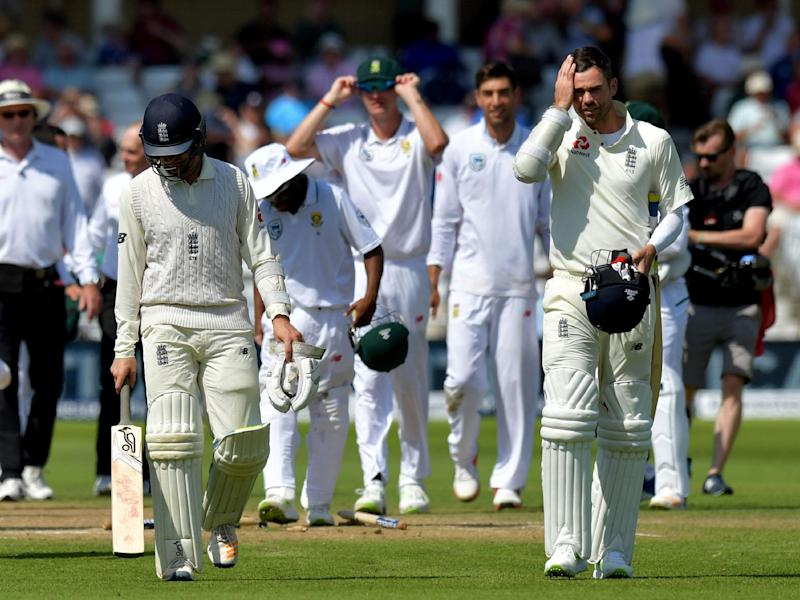 England were bowled out for 133 on the fourth and final day at Trent Bridge: Getty