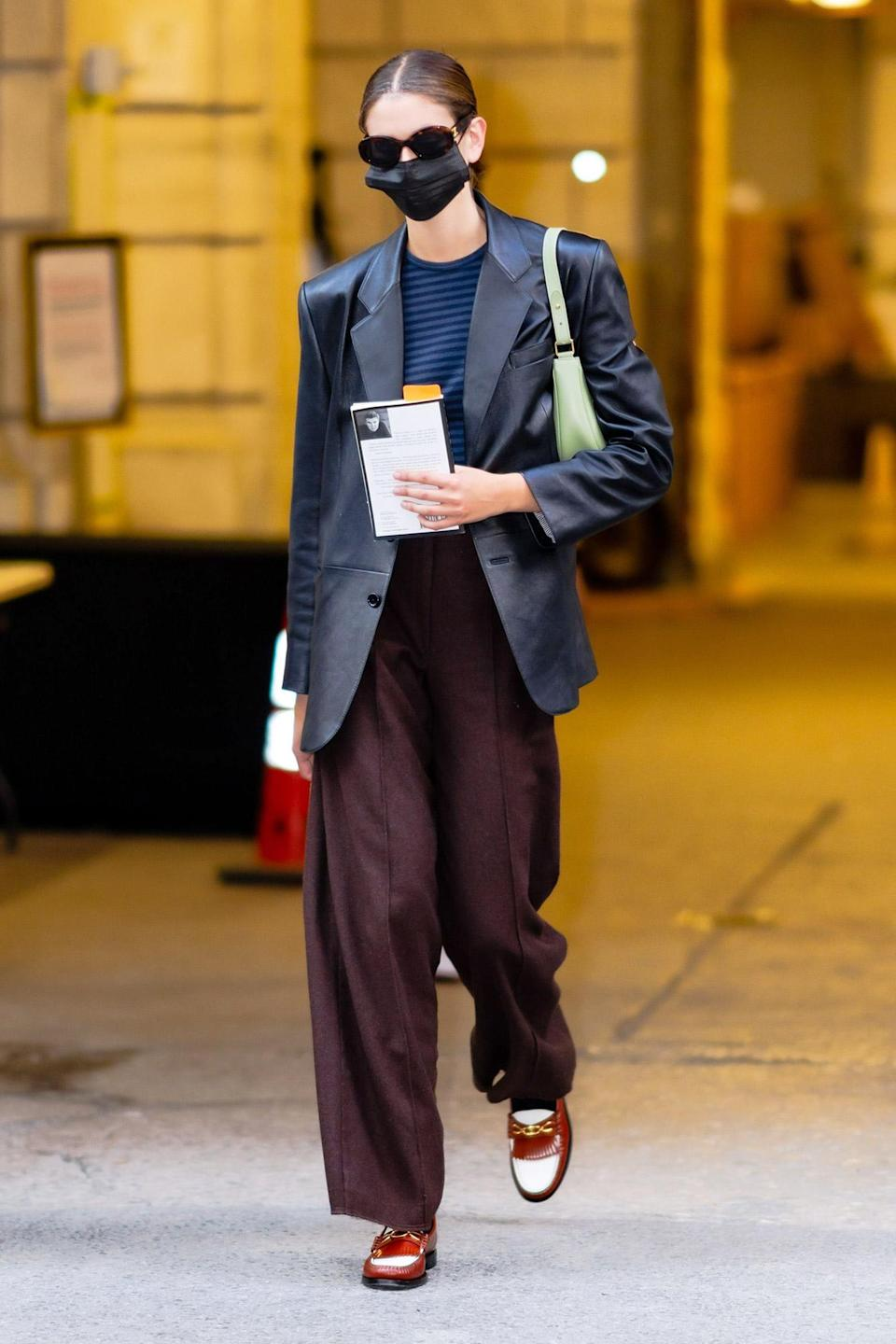 <p>Kaia Gerber is seen leaving the Marc Jacobs Fashion Show at the New York Public Library on June 28 in N.Y.C.</p>