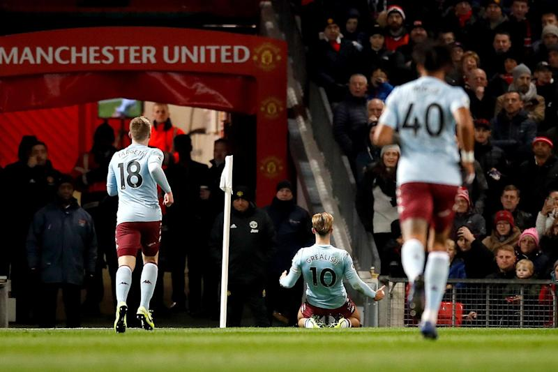 Grealish opened the scoring with a stunning goal at Old Trafford Photo: PA/Martin Ricketts