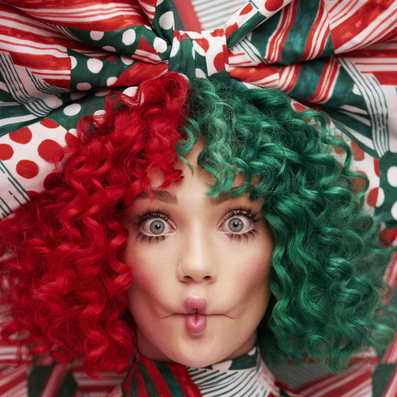 "Frequent Sia collaborator Maddie Ziegler appears on the cover of Sia's holiday album, ""Everyday Is Christmas."" (Monkey Puzzle / Atlantic Records)"