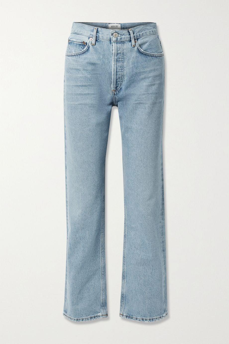 """<p>""""I've been searching for denim that's somewhere between cropped and long. I love the duster length of these <span>Agolde Lana straight-leg jeans</span> ($190) for paring back to sneakers.""""</p>"""
