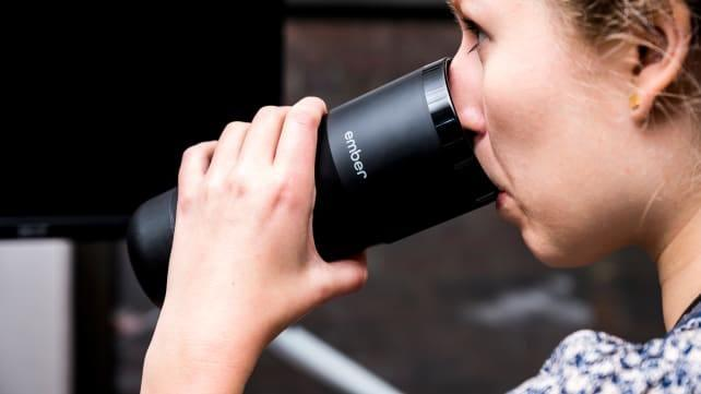 You can sip the Ember travel mug from any direction.