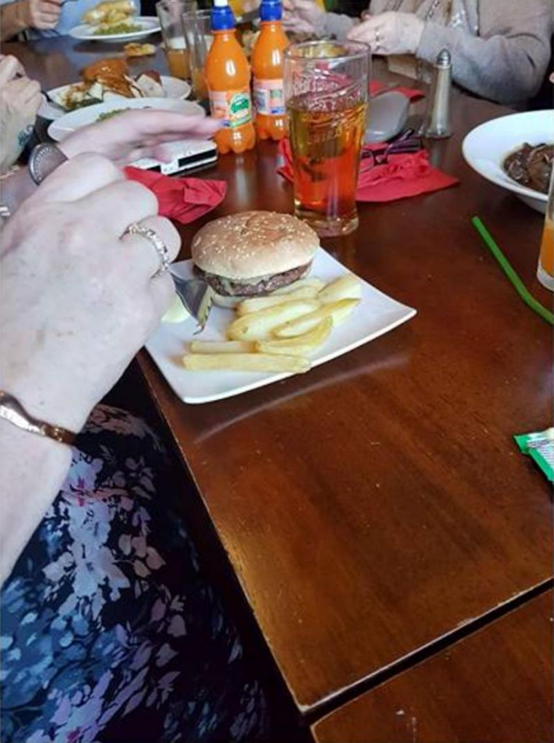 Leanne posted this photo of her tiny meal online. Photo: Caters News