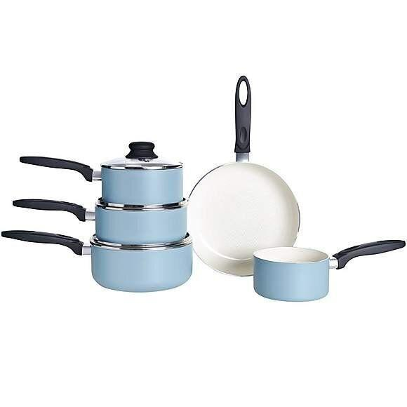 Brabantia Minty 5-Piece Pan Set, Dunelm (Photo: HuffPost UK)