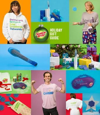 From disinfectant-themed pajamas to bedazzled toilet scrubbers, spread holiday cheer instead of germs this season with playful and effective cleaning-inspired gifts from the Scotch-Brite™ Brand Holiday Gift Guide.