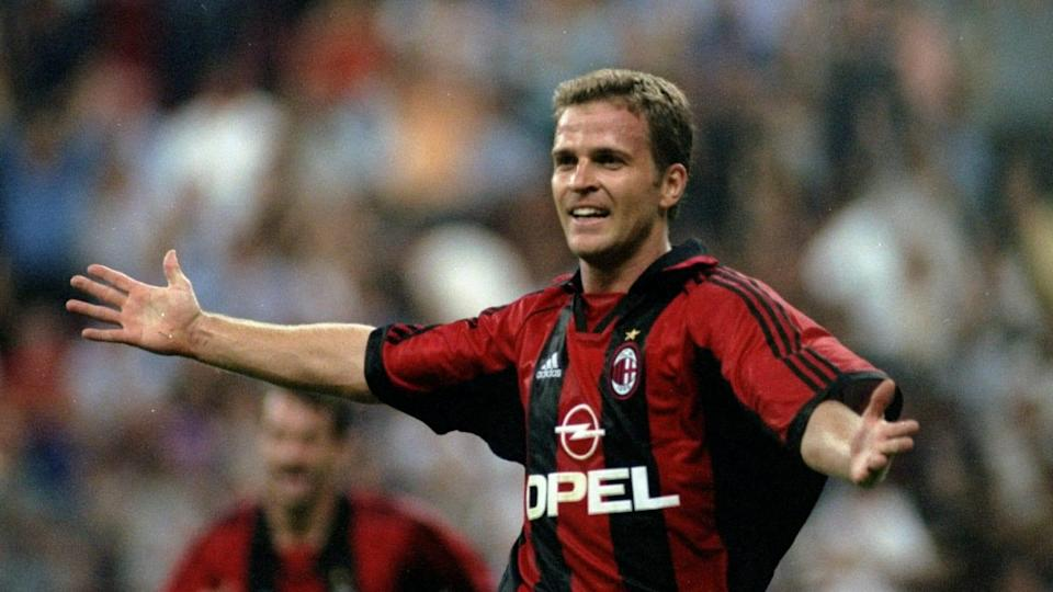 Oliver Bierhoff con la maglia Milan e lo sponsor Opel | Getty Images/Getty Images