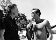 <p>Ian Fleming and Sean Connery on the set of 'Dr. No', 1962.</p>