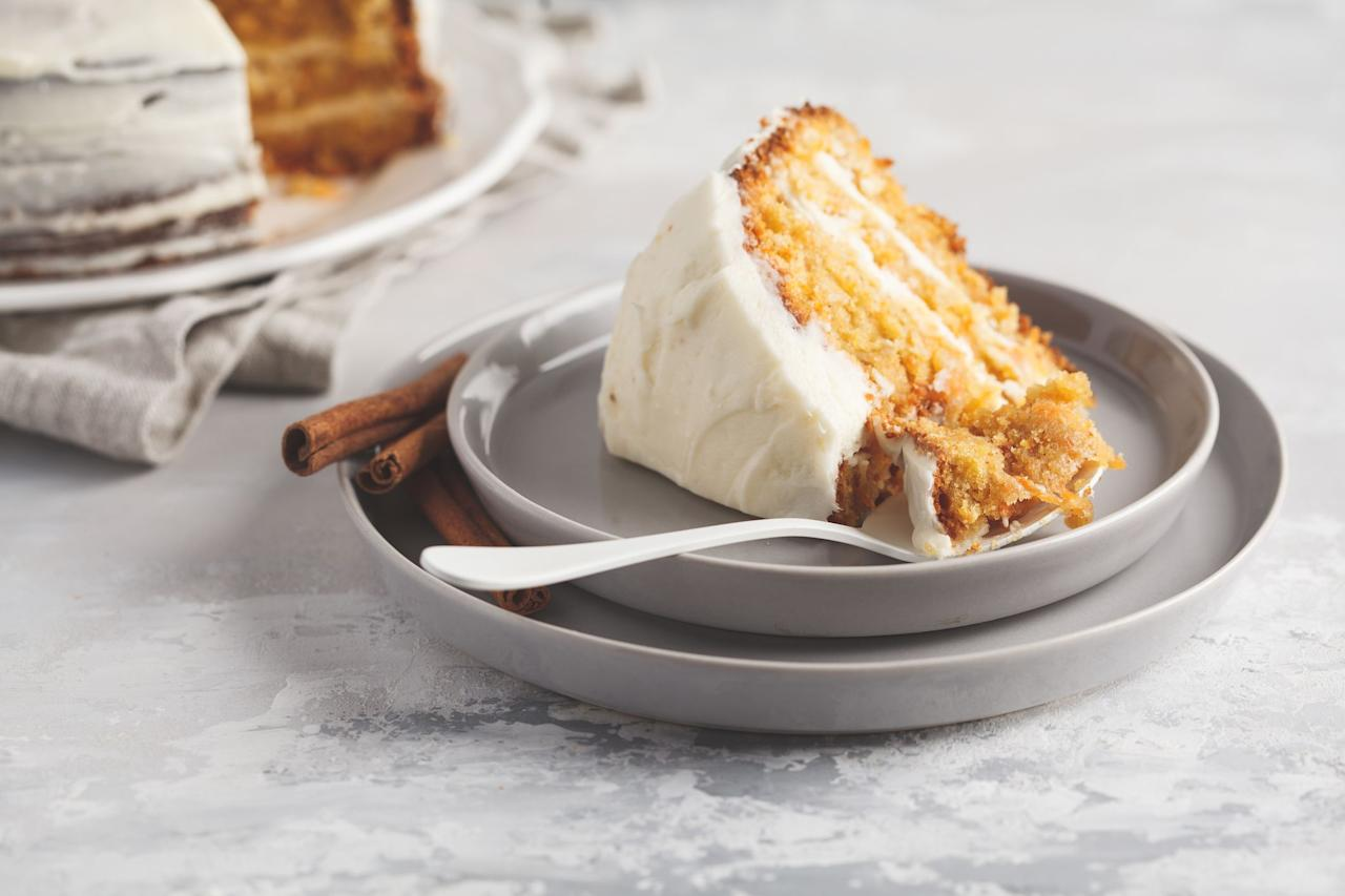 "<p>For those with a serious sweet tooth, the best part about <a href=""https://www.countryliving.com/food-drinks/g637/thanksgiving-menus/"">Thanksgiving dinner</a> is all the <a href=""https://www.countryliving.com/food-drinks/g1384/thanksgiving-desserts/"">decadent desserts</a>. Although a <a href=""https://www.countryliving.com/food-drinks/g1368/thanksgiving-pies/"">variety of pies</a> are the usual confections served, we suggest adding another dessert to your <a href=""https://www.countryliving.com/food-drinks/g1395/best-thanksgiving-recipes/"">holiday spread</a> with one of these irresistible Thanksgiving cakes. (Trust us—<em>nobody</em> will complain.) These recipes feature the tastiest flavors of <a href=""https://www.countryliving.com/fall/"">fall</a>, so no matter what pleases your palate, there's a delicious option to please your <a href=""https://www.countryliving.com/life/a25020918/what-day-is-thanksgiving/"">Thanksgiving</a> guests. For the <a href=""https://www.countryliving.com/food-drinks/g620/pumpkin-dessert-recipes/"">pumpkin dessert</a> lovers, there are plenty of gourd-filled recipes, including a pumpkin salted caramel cake, pumpkin spice latte cake, and pumpkin velvet crumb cake. If you like <a href=""https://www.countryliving.com/food-drinks/g975/apple-dessert-recipes/"">apple-flavored treats</a>, there are <a href=""https://www.countryliving.com/food-drinks/g973/best-apple-pie-recipe/"">fruit-filled desserts</a> aplenty on this roundup. The caramel apple cake, apple spice cake with cinnamon cream cheese frosting, and cream cheese swirled apple cake are all just begging to be baked. </p><p>There are many more luscious ideas on this list for chocolate and caramel lovers, such as the white chocolate caramel mousse brownie cake, salted caramel butterscotch cake with brown butter frosting, and browned butter pecan layer cake. But one of the best parts about this list is that there are so many different types of Thanksgiving cakes offered, including bundt cakes, layer cakes, and even dump cakes. So no matter what baking level you're at, there's a recipe that's just right for you. <br></p>"