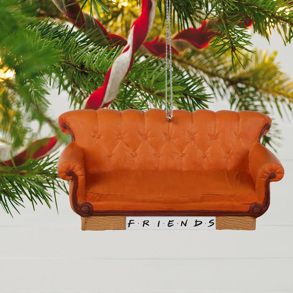 <p><span><strong>Friends</strong> Central Perk Couch Ornament With Sound</span> ($20)</p>
