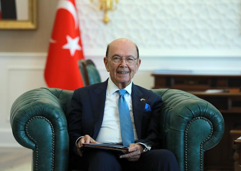 United States Secretary of Commerce Wilbur Ross meets Turkish Health Minister Fahrettin Koca (not seen) in Ankara, Turkey on Sept. 10, 2019. (Photo: Aytug Can Sencar/Anadolu Agency via Getty Images)
