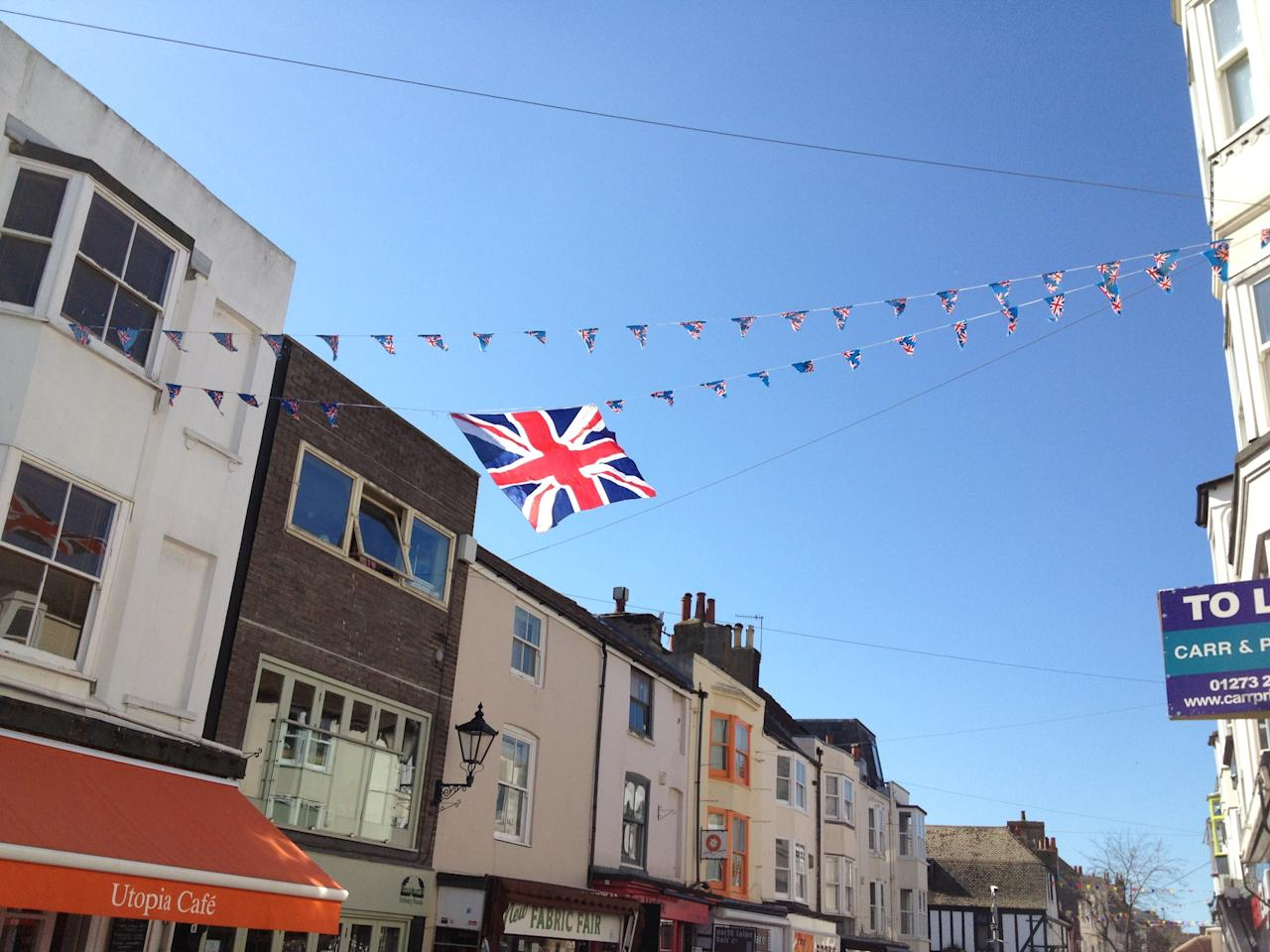 Union flag flies in Brighton