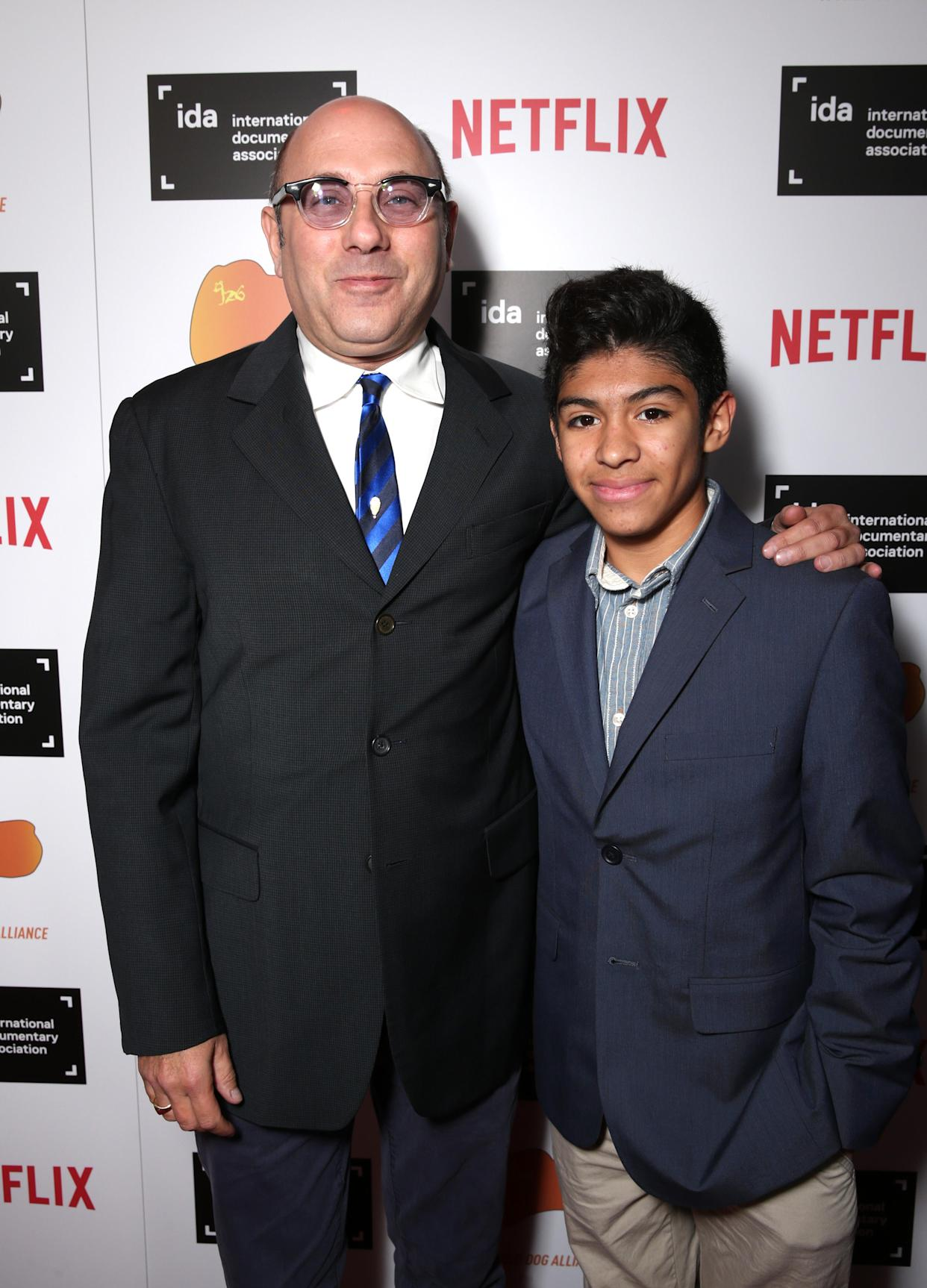 HOLLYWOOD, CA - DECEMBER 05:  Actor Willie Garson (L) and son Nathan Garson attend the 2015 IDA Awards at Paramount Studios on December 5, 2015 in Hollywood, California.  (Photo by Todd Williamson/Getty Images for International Documentary Association)