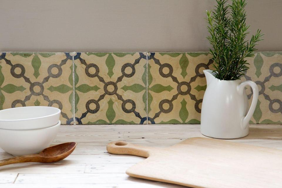 """<p>A personal sourcing mission for their own home led the founders of Maitland & Poate to launch their tile business, which now offers new designs as well as antiques. Tiles are rescued from properties throughout Spain, France and Belgium, and range from plain terracotta to ornate encaustic. <a href=""""https://maitlandandpoate.com/"""" rel=""""nofollow noopener"""" target=""""_blank"""" data-ylk=""""slk:maitlandandpoate.com"""" class=""""link rapid-noclick-resp"""">maitlandandpoate.com</a></p>"""