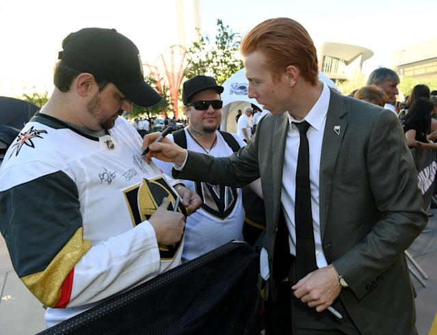 The Las Vegas Golden Knights are restricting autographs to kids 14 years and younger.