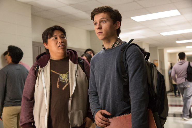 Ned (Jacob Batalon) and Peter (Tom Holland) in 'Spider-Man: Homecoming'. (Sony Pictures Releasing)