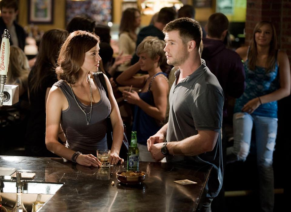 """Adrianne Palicki and Chris Hemsworth in Open Road Film's """"Red Dawn"""" - 2012"""